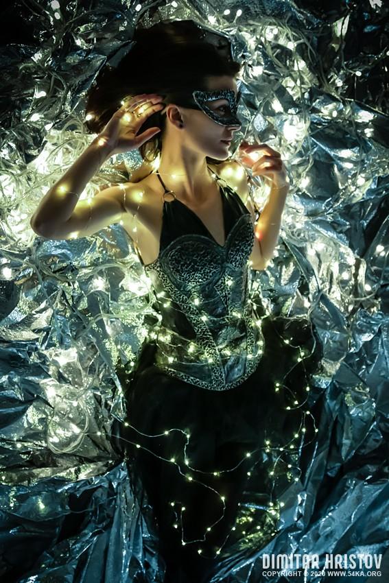 Glamour woman fairy tale   Fashion portrait photography venetian eye mask featured fashion  Photo