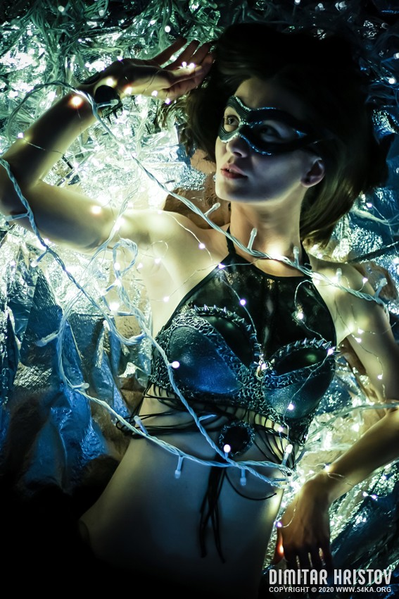 Glamour woman   Fantasy portrait photography venetian eye mask portraits featured fashion  Photo