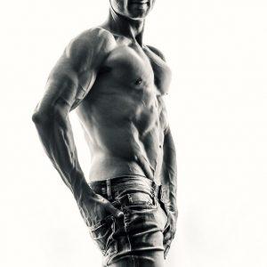 Portrait of confident bodybuilder man